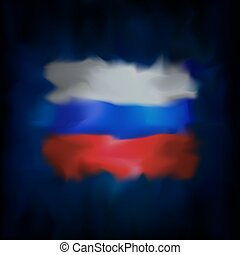Abstract flag of russia on blue sky background for creative design. Russia flag banner design. Constitutional amendment. Graphic abstract background. Russian federation nation patriotic vector, template