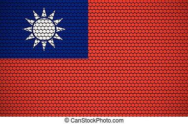 Abstract flag of Taiwan made of circles. Taiwanese flag ...