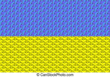 Abstract flag of the Ukraine