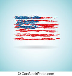 Abstract Flag of US