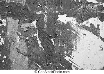 Abstract Flaked Facade Background in black and white