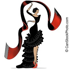 abstract flamenco with scarf