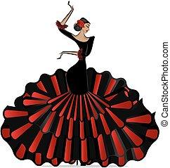 abstract flamenro girl in dance