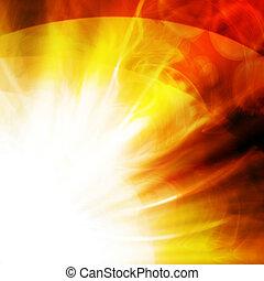 flash of sun