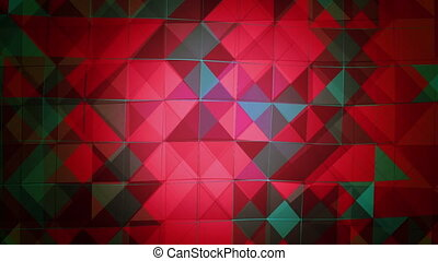 Abstract flashing squares in red