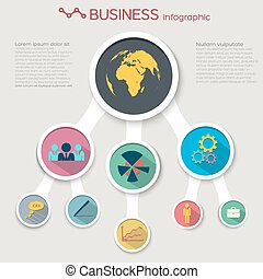 Abstract Flat Business Infographic Concept