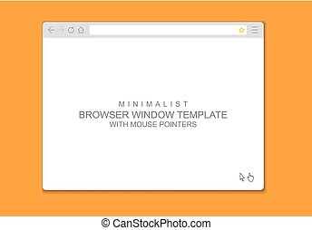 Abstract flat design web browser window template