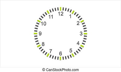 Abstract flat wall clock video animation