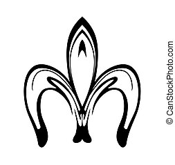 Abstract fleur de lis icon isolated on white