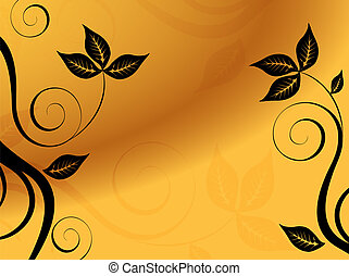 abstract, floral, achtergrond., vector.