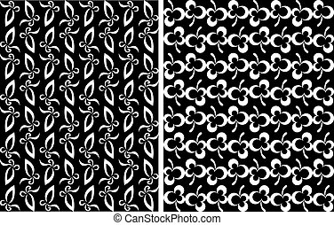 Abstract floral and clover seamless background