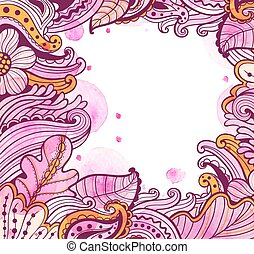 Abstract floral autumn frame