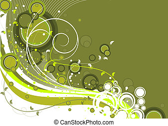 Abstract floral backgroun