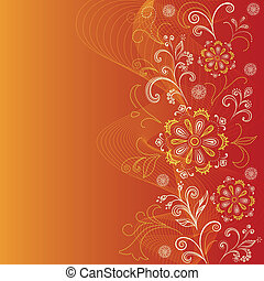 Abstract background with outline symbolical floral pattern. Eps10, contains transparencies. Vector