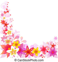 Abstract Floral Vector Background With Frangipani