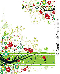 An illustration of abstract colorful floral background.