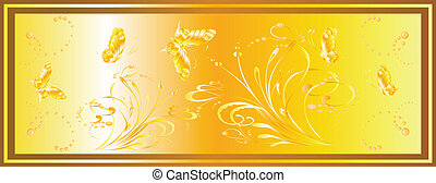 background and butterflies