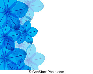 Abstract Gold And Blue Floral Background A Design With