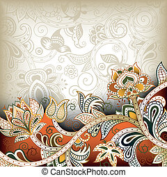 Illustration of abstract floral background in asia style.