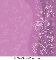 Abstract floral background, lilac - Symbolical flowers and...