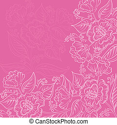 Abstract floral background - Abstract floral pattern with...