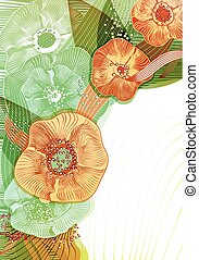 Abstract floral background. Vector abstract flowers