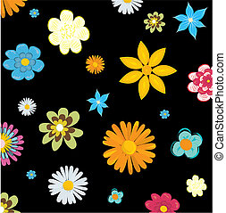 Abstract floral background, vector illustration