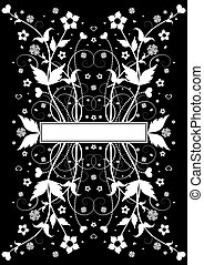 Abstract floral background with banner