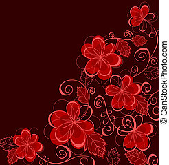 Abstract floral background with flowers - Colorful abstract...