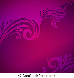 Abstract floral background with leaves