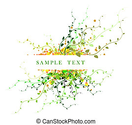 Abstract floral background with place for your text (green)