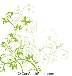 Abstract floral background with place for your text