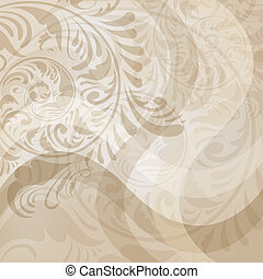 abstract floral background with waves