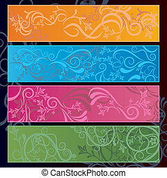 Abstract floral banner. Illustration