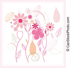 Abstract floral beautiful background vector