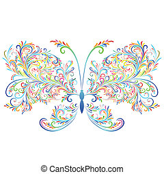 Abstract floral butterfly.