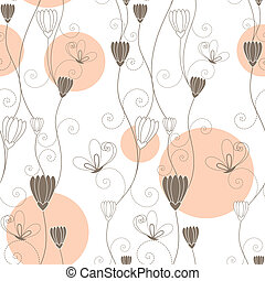 floral butterfly seamless pattern