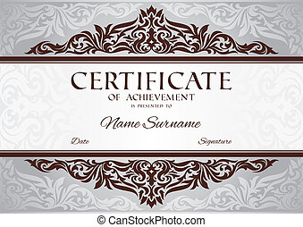 certificate of achievement - abstract floral certificate of ...
