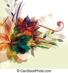 Abstract floral colorful background.eps