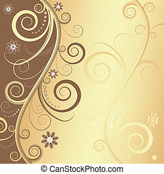 Abstract floral decorative frame (vector)