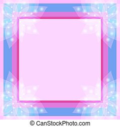 Abstract floral decorative frame
