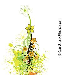 Abstract floral design background. Vector