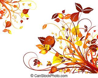Hand drawn floral design