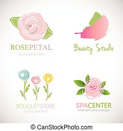 Abstract floral designs for logo