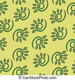 Abstract floral dynamical seamless vector pattern