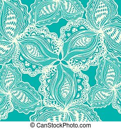 Abstract floral element for decorative design