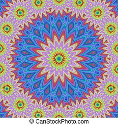 Abstract floral fractal mandala design background