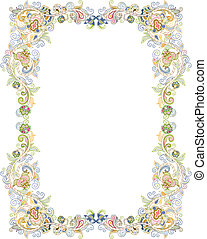 Illustration of abstract floral frame.