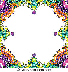 Abstract floral frame 3