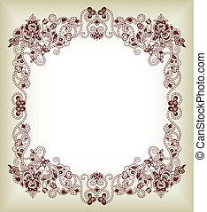 Abstract Floral Frame Background 1